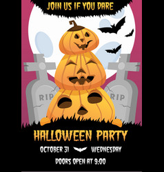 happy halloween invitation flyer vector image