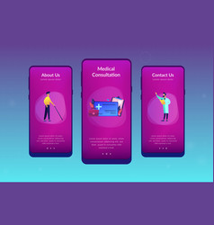 Healthcare smart card app interface template vector