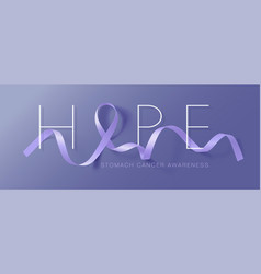 Hope stomach cancer awareness calligraphy poster vector