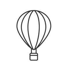 Hot air balloon linear icon vector
