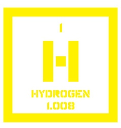 Hydrogen chemical element vector