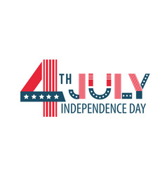 independence day of the united states poster vector image