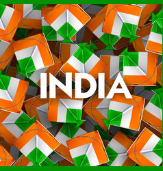 indian background with tricolor kites for 26t vector image