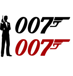 James bond movie character a famous spy vector