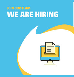 Join our team busienss company document vector