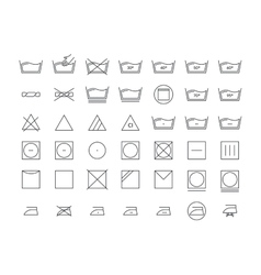 Laundry Icon Thin Line Set vector