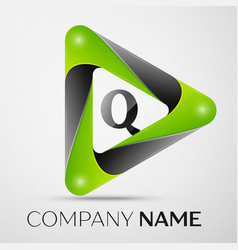 letter q logo symbol in the colorful triangle on vector image vector image