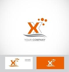 Letter X orange logo vector