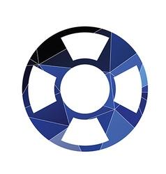Lifebuoy icon Abstract Triangle vector