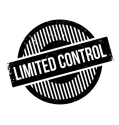 limited control rubber stamp vector image