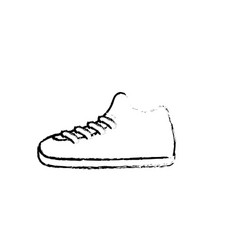 line sneakers element to do exercise with fashion vector image