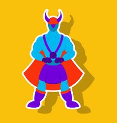 Man superhero superhero standing icon vector
