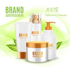 Natural cosmetic template vector