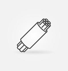 Optical fiber concept icon in thin line vector