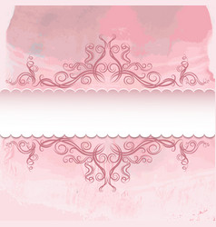 pattern on watercolor background vector image