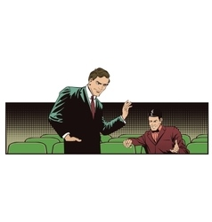People in retro style Talking man vector image