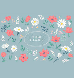 petal and flowers vector image