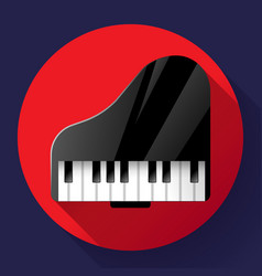 Piano icon - a symbol classical music chamber vector
