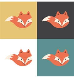 Red fox icon vector