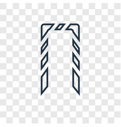 rope concept linear icon isolated on transparent vector image