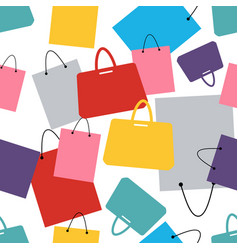seamless pattern of shopping bags and fashion vector image