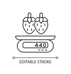 serving information linear icon vector image