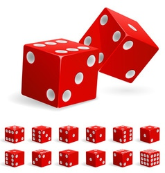 set of dice vector image