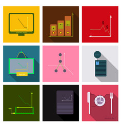 Set of finance and banking icons simple elements vector