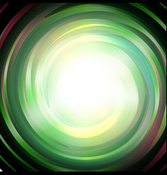 spiral green magic galaxy background bright swirl vector image