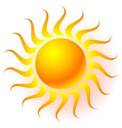 Sun clip-art with transparent glow effect sun vector