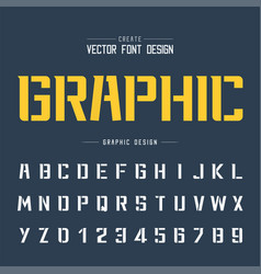 Tech font and graphic alphabet technology bold vector