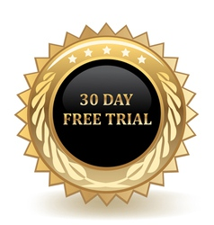 Thirty Day Free Trial vector image