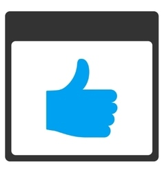 Thumb Up Calendar Page Toolbar Icon vector