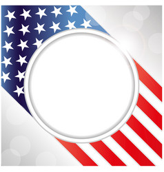 usa flag decorative card with clean space vector image