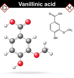 Vanillic acid molecule flavoring agent vector