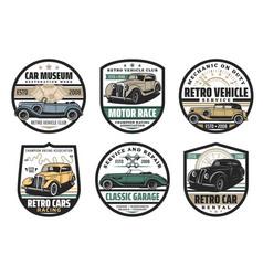 vehicles rent repair restoration car service vector image