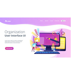 web design development concept vector image