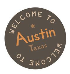Welcome to austin texas vector
