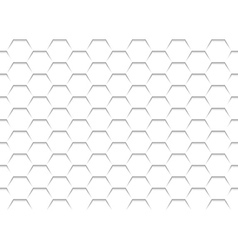 White Honeycomb Grid Texture vector image
