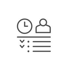Work schedule line outline icon vector