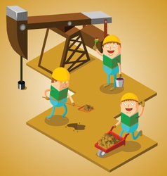 Working at oil field vector image