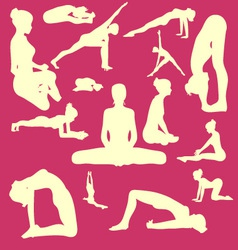 Yoga Pose Woman Digital Clipart vector