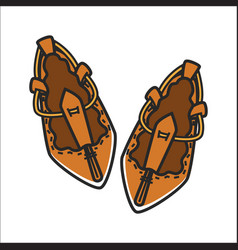 bulgarian traditional ethnic woman shoes tsarvuli vector image vector image