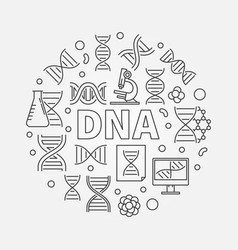 dna circular or symbol vector image vector image