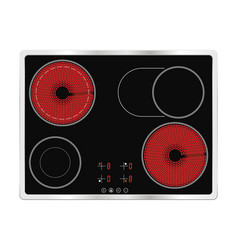Electric cook top ceramic surface vector