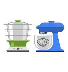 electrical hand mixer dishware isolated vector image