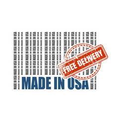 free delivery from usa vector image