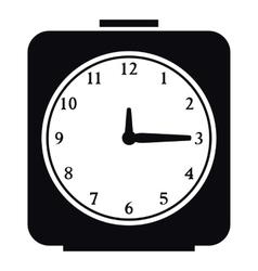 Square alarm clock icon simple style vector