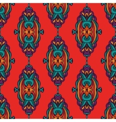 Damask colorful abstract seamless pattern vector image vector image