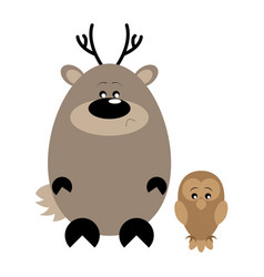 deer and owl sad vector image vector image